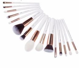 White Rose Synthetic NZ - 15pcs Makeup Brushes White rose Gold Maquiagem Profissional Foundation Powder Liner Brushes T220