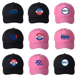 material cotton Canada - Biden Elections Campaigns Caps Man Woman Cotton Material Baseball Hat Navy Blue Letter Pattern Adult Headgear Hot Selling 12 5Zg L1 #740