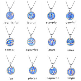 $enCountryForm.capitalKeyWord Australia - 12 Constellation Theme - 925 Silver Plated Constellation Pendant Natural Gemstone Blue Opal Necklace Glamour Women Wedding Jewelry Gift
