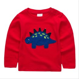 Infant tshIrts online shopping - Jumping Kids T shirts for Boys Cotton animals dinosaur Tops Autumn Children Print Tees Infant O neck Tshirts Boys Tops T
