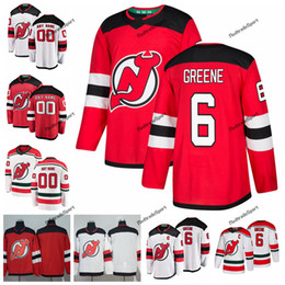 838a1d144 2019 New Jersey Devils Andy Greene Hockey Jerseys Custom Name Alternate  White Red #6 Andy Greene Stitched Hockey Shirts C Patch