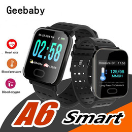 water resistant smart watches Australia - 2019 New A6 Wristband Smart Watch Touch Screen IP67 Water Resistant Smartwatch with Heart Rate Smart Bracelet Monitor Sport Running