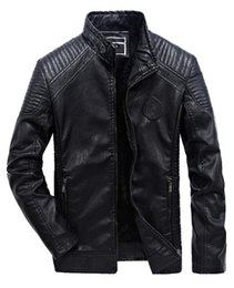 $enCountryForm.capitalKeyWord NZ - 2018 New Men s Winter Plus Size Plus Velvet Stand Collar Casual PU Leather Motorcycle Clothing Jacket