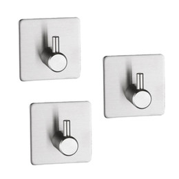 $enCountryForm.capitalKeyWord Australia - 3PCS Multi-functional Door Hanger Stainless Steel Adhesive Hook Wall Hanging Hook Hanger for Coat Key Towel Bag