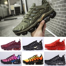 mens running shoes free shipping UK - Free Shipping New Mens Shoe Sneakers TN Plus Breathable Air Cusion Desingers Casual Running Shoes New Arrival Color US5.5-11 EUR