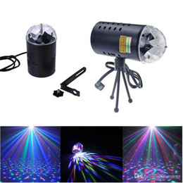 Crystal Light Usa Australia - Opening discount US EU 110V 220V Mini Laser Projector 3w Light Full Color LED Crystal Rotating RGB Stage Light Party Stage Club DJ SHOW