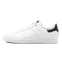 $enCountryForm.capitalKeyWord Australia - Original smith men women casual shoes green black white blue red pink silver mens stan fashion leather shoe flats sneakers Z10