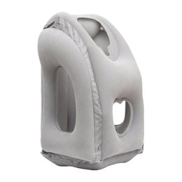 airplane sleeping pillow UK - Inflatable Travel Pillow Airplane Neck Pillow and Head Support Pillow for Sleeping on the Airplane Train Car Home Office
