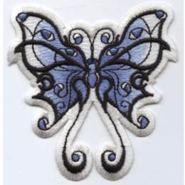 Patches Badges Australia - Embroidery Patches For Clothing Badge Patches Blue and White Tribal Butterfly For Apparel Bag DIY Accessories