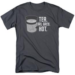 4a19bd09f7504f Star Trek Next Generation Picard Orden TEA. EARL GRAY. CALIENTE. Camiseta  de todos los tamaños Hombres Mujeres Unisex camiseta de moda Envío Gratis