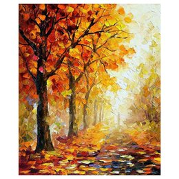 """$enCountryForm.capitalKeyWord Australia - 36""""x48"""" The maple tree hand-painted canvas forest of autumn sofa setting wall painting stair adornment porch painted"""