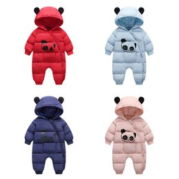 Toddlers Hooded Jumpsuits Australia - HYLKIDHUOSE 2019 Winter Infant Rompers Baby Girls Boys Jumpsuits Cartoon Hooded Warm Windproof Thicken Toddler Children Costume
