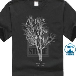 $enCountryForm.capitalKeyWord Australia - Alice In Chains Mens T Shirt Name Logo In Dead Gray Tree Image Print Kawaii Summer Style