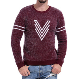 $enCountryForm.capitalKeyWord NZ - 2019 new good quality Pullover Sweater Men Autumn Pullover Knitted Top Printed Sweater Outwear Blouse Jumper