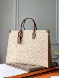 LOU1S VU1TTON Echtes Leder Frauen OnTheGo M44933 Twist Handtasche Einkaufs Bote Einkaufstasche Umhängetasche Taschen Totes Cosmetic Bag im Angebot