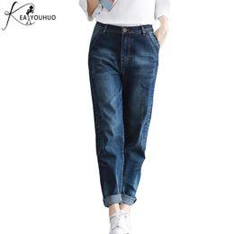 f76c69da95277 2018 Winter Vintage Ladies Jeans Woman Plus Size 4XL Boyfriend Jeans For  Women Female High Waist Pants Denim Mom Trousers  446128