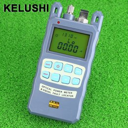 Optical Fiber Power Australia - KELUSHI All-IN-ONE OpticalAll-IN-ONE Fiber optical power meter -70 to +10dBm 1mw 5km Fiber Cable Tester Visual Fault Locator