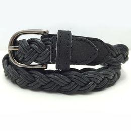Discount woven belts - Trend Women belt fashion retro high quality weaving pin buckle belt casual Nonporous Women cowboy decoration
