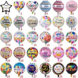 Опт 18 дюймов с Днем рождения алюминиевая пленка воздушный шар с Днем рождения круговой алюминиевой фольги воздушный шар партии партии украшения воздушный шар T4H0387
