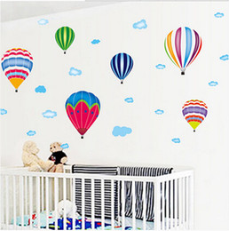 Decor Balloon Ship Australia - Free shipping wall stickers home decor home decoration wall sticker for kids rooms decals Colored balloons stickers