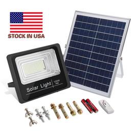 Stock In US + 10W 25W 40W 100W 120W Solar Led Floodlights Solar Outdoor Led Flood Garden Light Waterproof on Sale