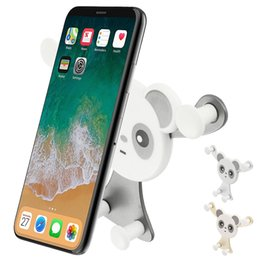 abs car phone holder Australia - ODOMY Universal Car Dashboard Gravity Phone Holder Panda Cartoon Support Bracket ABS Interior Accessories Mount