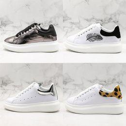$enCountryForm.capitalKeyWord Australia - M Q Designer Comfortable Men Women Small White Shoes Thick Bottom Lovers Luxury Black White Silvery Leopard Print