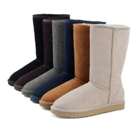 $enCountryForm.capitalKeyWord Australia - WGG Classic Australia Tall Boots Waterproof Cowhide Genuine Leather Snow Boots Bailey Bowknot Warm BOOTSUGGshoes For Women