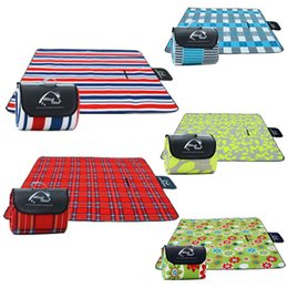 beach mats baby UK - Outdoor Hiking and & Hiking Picnic Camping Baby Climb Plaid Blanket Beach Waterproof Moistureproof Picnic Blanket Baby Mat Camping Mat