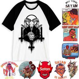 Discount new modal man shirt - New Arrival Men Satan T Shirt Demon Death Scary Evil Hip Hop Satanism Grim Reaper Evil T-shirt Funny Satan Tshirt Male f
