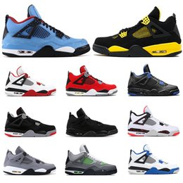 Wholesale 2019 New mens basketball shoes s CACTUS JACK THUNDER Tattoo BRED Fire Red Cool Grey PURE MONEY MOTORSPORT mens sports sneakers size