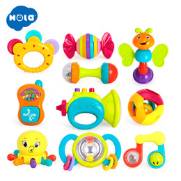 10PCS Lot Baby Rattles Toys Newborn Hand Bells Baby Toys 0-12 Months Teething safe Development Infant Early Educational Toys Y200111 on Sale