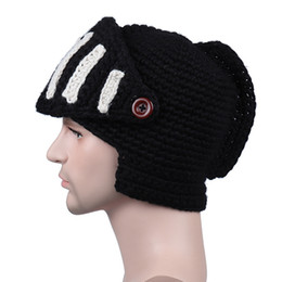 80321e87134 2018 Winter Gladiator Mask Cap Handmade Roman Knitted Hat Rome Rider Knit  Hats