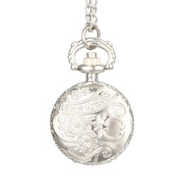 $enCountryForm.capitalKeyWord UK - Fashion Vintage Pocket Watch Alloy Roman Number Dual Time Display Clock Necklace Chain Watches Birthday Gifts QL Sale
