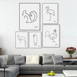 Vente en gros Art peinture Moderne Abstraite Peinture Sur Toile Animal Art Huile Affiche Mur Image Pour Salon Décor