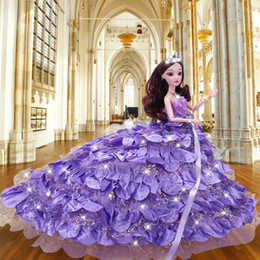 $enCountryForm.capitalKeyWord Australia - Doll Lele Barbie Doll Facelift Suit Will Gift Box Will Tailing Wedding Dress Princess Girl House