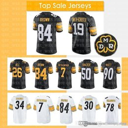 612c61693 19 Juju Smith-Schuster Jersey Pittsburgh 84 Antonio Brown Steelers 90 T.J.  Watt 7 Ben Roethlisberger 36 Jerome Bettis 50 Ryan Shazier