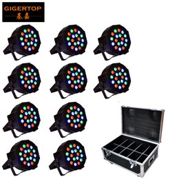 Dmx plugs online shopping - 10in1 Flightcase Pack x3W RGB led Par lights professional stage dj equipment cheap price US EU AU Power Plug