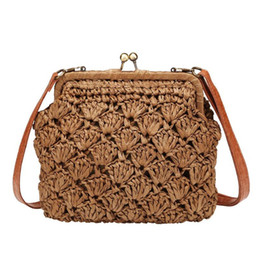 fashion bags summer for woman UK - Fashion Summer Beach Straw Bag Small Wild Messenger Clutch Handbags Shoulder Crossbody Bags for Women 2019