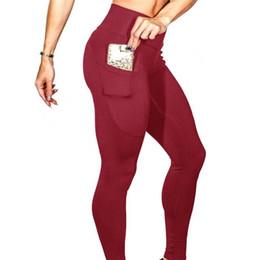 111a59b1d805c6 CKAHSBI Fitness Leggings Women Pockets Breathable High Waist Sport Running  Fitness Workout Legging Push Up Elastic Yoga Pants