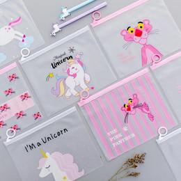 $enCountryForm.capitalKeyWord Canada - Cute Pink Leopard Unicorn Transparent Travel Cosmetic Bag Make Up Case Makeup File Bag Women Organizer Toiletry Storage Kit Box