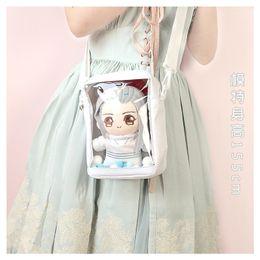 Soft fan online shopping - Japanese Lolita Itabag Transparent Fans CM Doll Ita Bag Shoulder Bag Harajuku Messenger