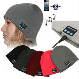 $enCountryForm.capitalKeyWord Australia - NEW Soft Warm men women Beanie Bluetooth Music Hat Cap with Stereo Headphone Headset Speaker Wireless Mic Hands-free christmas gift