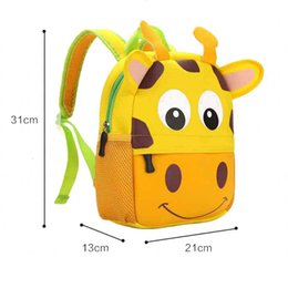 baby toddler handbag Canada - Animal Plush Backpack Toddler Kid Children Boy Girl 3d Cartoon School Bag Kindergarten Little Bags Cute Baby Bag Animal Backpack