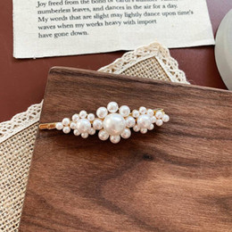 $enCountryForm.capitalKeyWord NZ - Ins vintage pearl hairpin elegant flower hairpin chic web celebrity bangs edge clip Korean hair decoration girl