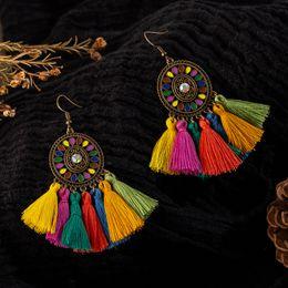 Fringe Gifts Australia - Colorful tassel earrings for women Vintage bohemian boho ethnic dream catch fringe dangle drop hanging earing Charm jewelry gift