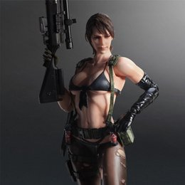 Discount metal gear solid toys Play Arts Kai Metal Gear Solid V The Phantom Pain Quiet Action Figure toy with Box