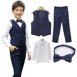 piano suit 2019 - Boys vest set children clothing set boys suits for weddings Prom clothes child piano costume suit for boy waistcoat shir