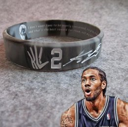 wristbands james bracelet NZ - Basketball Stars Kobe Curry Irving Harden Leonard James Head Karst Inspirational Sport Wristband Popular Bangle Bracelet