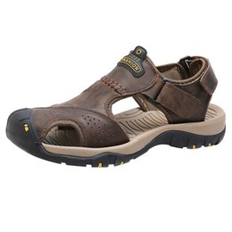 Best Summer Hiking Shoes Australia - Men's Sandals Beach Shoes Closed Toe Breathable Anti-slip Casual for Summer Hiking KA-BEST